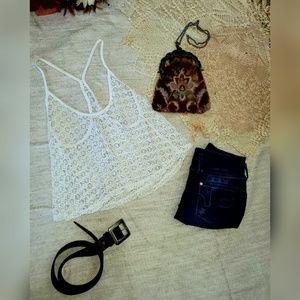 Victoria Secret Pink crochet crop top